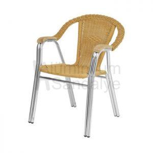 Plastik Ormeli Aluminyum Bahce Sandalye Alg05