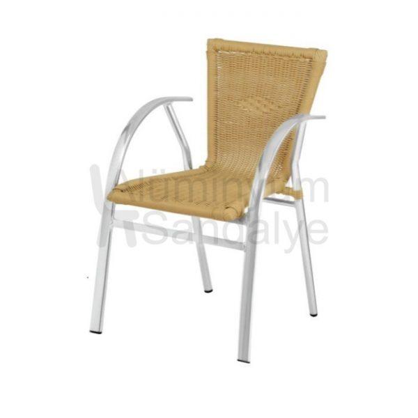 Yassi Profilli Kollu Aluminyum Orgulu Sandalye Alg06
